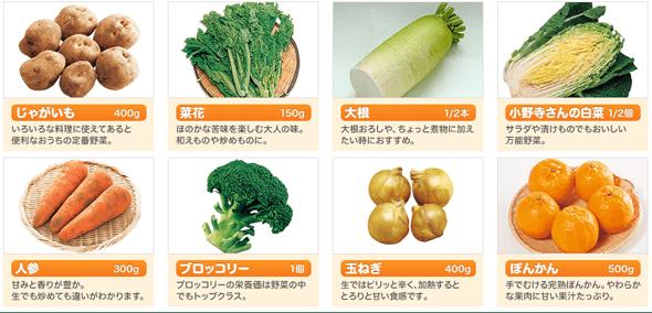 お試し野菜セットの詳細
