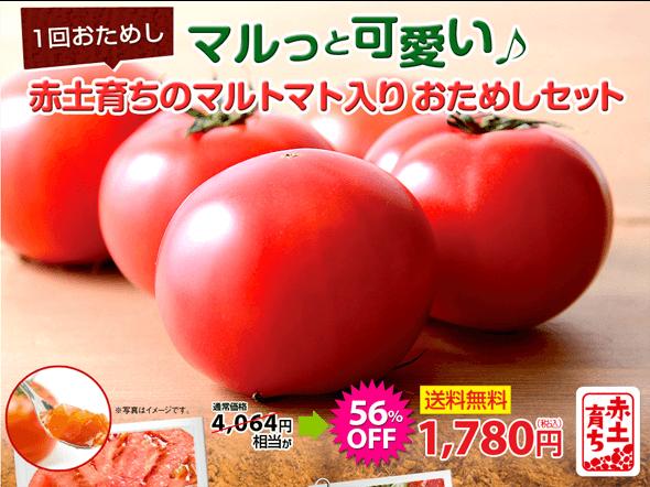 マルっと可愛い♪赤土育ちのマルトマト入りおためしセット