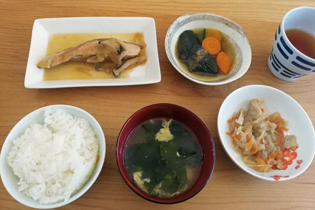 鮭のソテー、揚げ煮、煮物