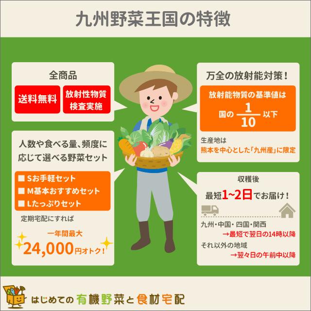 九州野菜王国の特徴